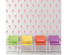 Walplus Entfernbarer selbstklebend Wand Sticker Pink Flamingos Wandbild Kunst Zuhause Wohnzimmer Dekoration Dekor Restaurant Cafe Hotel Kinderzimmer Dekoration