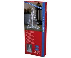 Konstsmide 3920-203 LED Dekoration 3D Acryltannenbaum / für Außen (IP44) / 24V Außentrafo / 40 kalt weiße Dioden / schwarzes Kabel