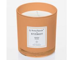 Ritzenhoff Aroma Naturals Modern Duftkerze, Glas, Orange, 7 x 7 x 8 cm