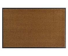 Hanse Home Waschbare Schmutzfangmatte Soft & Clean Caramel, 100x100 cm