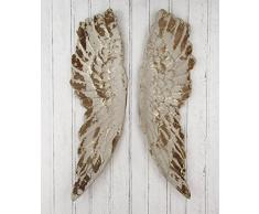 KARE Design Wandschmuck Antique Wings, 105 x 66 x 5 cm, gold/weiß