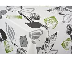 Tischdecke Frühling Tischtuch Tischwäsche Wachstuch pflegeleicht wasserabweisend Oval 140 x 200 cm, PVC-Polyester, 55064, Venilia