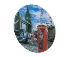 WENKO 20195100 Static-Loc Wandhaken Uno London - Befestigen ohne Bohren, Kunststoff, 8.5 x 2 x 8.5 cm, Mehrfarbig