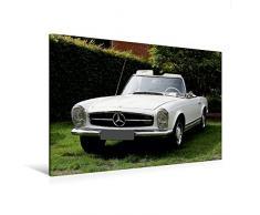 Calvendo Premium Textil-Leinwand 120 cm x 80 cm Quer, Mercedes Benz Edle Schätzchen   Wandbild, Bild auf Keilrahmen, Fertigbild auf Echter Leinwand. Pagode 230-280 SL Mobilitaet Mobilitaet