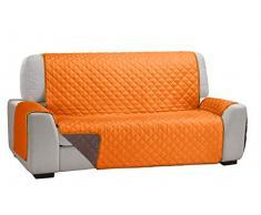 Martina Home Martina Dual Cover Sofaüberwurf mit wendbarer Polsterung 3 Plätze Orange/Braun