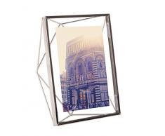 Umbra Prisma 13x18 cm Bilderrahmen – Wand- und Tisch Fotorahmen für Bilder, Kunstdrucke, Illustrationen, Graphiken und Mehr, Metall/Glas, Silber