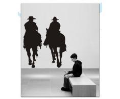 INDIGOS WG30026-80 Wandtattoo w026 Cowboy Western 120 x 101,braun