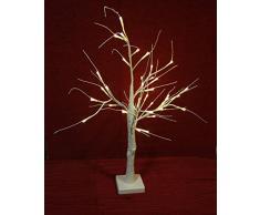 Unbekannt LED Baum Glitter-60 cm, Plastik, Weiß, 11 x 11 x 60 cm