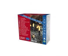 Konstsmide 6060-000 LED Minilichterkette / für Außen (IP44) / 24V Außentrafo / 120 gelbe Dioden / grünes Kabel