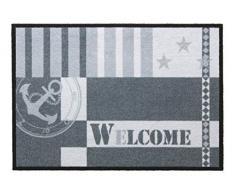 andiamo Fußmatte Metropolitan für den Eingangsbereich, Pflegeleichte und robuste Schmutzfangmatte, Farbe:Grau;Größe:50x70cm