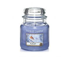Yankee Candle 1316026E Icicles Duftkerze im Glas, violett, 9.5 x 9.5 x 13.8 cm