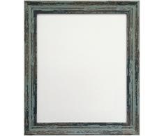 FRAMES BY POST Bilderrahmen, A2, Industriequalität, mit Kunststoff-Glas, Used-Look, Blau