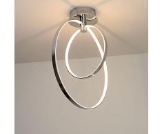 Natsen LED Runde Design Deckenleuchte Deckenstrahler Chrom Leuchte Lampe Deckenlampe Leuchten Modern