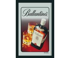 empireposter - Ballantines - Flasche - Größe (cm), ca. 20x30 - Bedruckter Spiegel, NEU - Beschreibung: - Bedruckter Wandspiegel mit schwarzem Kunststoffrahmen in Holzoptik -