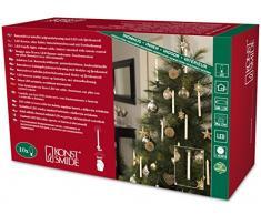Konstsmide 1920-100 LED Baumbeleuchtung mit Fernbedienung / 10 weiße Kerzen / für Innen (IP20) / Batteriebetrieben: 22xAAA 1.5V (inkl.) / 10 warm weißen Dioden