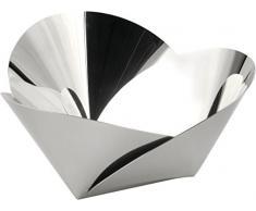 Alessi Korbschale aus Edelstahl, Silber, 8.5 x 23 x 3.5 cm