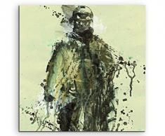 Paul Sinus Art Battlefield_Soldier_60x60-SA Wandbild Leinwand, 90 x 50 x 3 cm, mehrfarbig