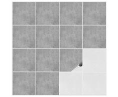FoLIESEN Fliesenaufkleber für Bad und Küche - 15x15 cm - Dekor Greydi - 120 Fliesensticker für Wandfliesen
