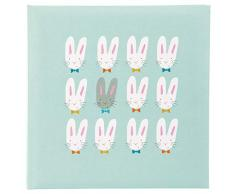 Goldbuch Baby-Fotoalbum Cute bunnies, Album ca. 25x25 cm, Fotobuch mit Leinenstruktur, 60 weiße Seiten, Pergamin-Trennblätter, Mint, 24 038