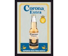 empireposter - Beer - Corona - Größe (cm), ca. 20x30 - Bedruckter Spiegel, NEU - Beschreibung: - Bedruckter Wandspiegel mit schwarzem Kunststoffrahmen in Holzoptik -