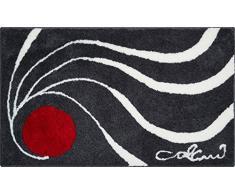 GRUND COLANI Exklusiver Designer Badteppich 100% Polyacryl, ultra soft, rutschfest, ÖKO-TEX-zertifiziert, 5 Jahre Garantie, Colani 18, Badematte 80x150 cm, anthrazit