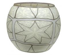 Himmlische Düfte Geschenkartikel CC15 White Star Windlicht Glas 11 x 11 x 9 cm, bunt