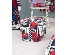 Disney Spiderman Kinder-Sitzsack, ideal für das Kinderzimmer oder Spielzimmer, 50 x 65 cm, Rot