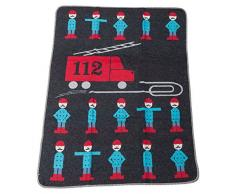 David Fussenegger 67319879 Juwel Baby- und Kinderdecke Feuerwehr, Baumwoll-Mischgewebe, anthrazit, 90 x 70 x 90 cm