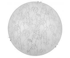 Rabalux 3396 Meryl, Wand- und Deckenleuchte, Weiß-Chromfarbene Kralle
