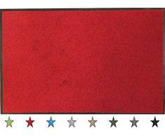 oKu-Tex Eco-Clean Schmutzfangmatte, Fußmatte, Läufer, rutschfest & waschbar, recycelt, für innen, bordeaux, rot, 90 x 120 cm