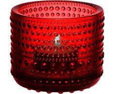Iittala 1014351 Kastehelmi Windlicht, 6,4 cm, cranberry rot