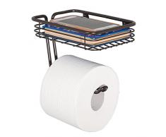 iDesign Classico WC Rollenhalter mit Regal, bronze, metall