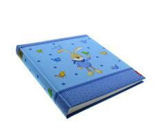 Goldbuch Babyalbum, Semmelbunny, 30 x 31 cm, 60 weiße Blankoseiten mit 4 illustrierten Seiten und Pergamin-Trennblättern, Laminierter Kunstdruck, Blau, 15124