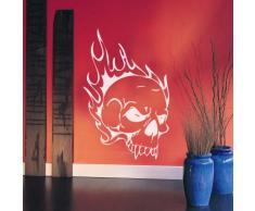 INDIGOS WG10355-31 Wandtattoo W355 Totenkopf Skull Schädel Bone Wandaufkleber 80 x 52 cm, rot