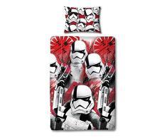 Star Wars Bettbezug mit Passendem Kopfkissen Case-Two-seitige Wende-Episode 8Â Storm Trooper Design, Mikrofaser, Rot, Single