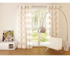Splendid FLORENCE Konfektion Vorhang mit Ösen, 140 x 245 cm, ekrü