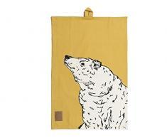 CREATIVE TOPS in die Wild Geschirrtuch Bär, Baumwolle, Gelb, 42 x 38 x 1 cm