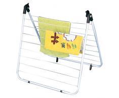 MSV 130038 Wäscheständer für Badewanne, Polypropylen/Polystyrol, 0,1x60x0,1cm, Weiß