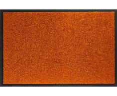 ID matt 406016 Mirande Teppich Fußmatte Faser Nylon/PVC gummiert orange Hot 60 x 40 x 0,9 cm