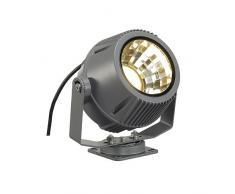 SLV Flac Beam LED Strahler mit Philips DLMi Modul 2000 lm, 3000 K, steingrau 231092