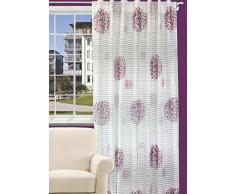 Splendid FLORYDA Konfektion Vorhang mit verdeckten Schlaufen, 140 x 245 cm, violett