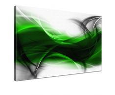 LANA KK - Leinwandbild Empfindung GS abstraktes Design auf Echtholz-Keilrahmen – Fotoleinwand-Kunstdruck in grau, einteilig & fertig gerahmt in 100x70cm
