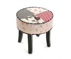 Hocker RUND in Patchwork romantic