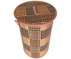 GMMH Original LN411 Bambus Wäschekorb Aufbewahrungsbox Wäschetruhe Wäschebox Wäschesammler Korb