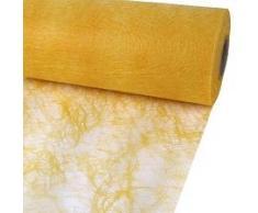 25m Sizoflor ® Original Tischband Tischläufer Tischdeko Faserseide 30cm / 300mm, Farbe:gelb