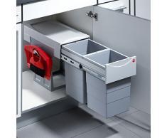 Hailo 3666801 Abfallsammler TA Swing 40.2/30 plus für Schränke ab 400 mm Breite mit Drehtür, plastik, grau, 48.2 x 30.2 x 40 cm