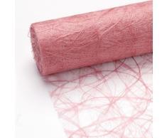 25 m x 20 cm Sizoweb® Vlies Original Tischband Tischläufer rosa für Hochzeit, Kommunion, Taufe