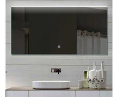 Badezimmerspiegel Wandspiegel Lichtspiegel LED mit TOUCH SCHALTER Lichtfarbton kalt/warm einstellbar