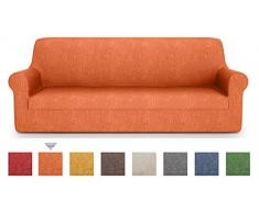 PETTI Artigiani Italiani - Sofaüberwurf, Sofabezug, Sofaüberwurf Orange, Sofabezug 2 Sitzer, Jacquard Stoff, 100% Made In Italy