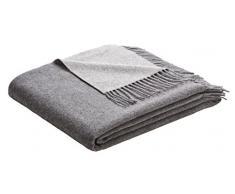 biederlack AmazonUkkitchen Überwurf, Wollmischung, Einzelbett, Wollgemisch, Grau/silberfarben, 130 x 170 cm